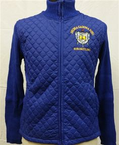 Sigma Gamma Rho Sorority Sweater Jacket-Blue - Brothers and Sisters' Greek Store