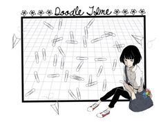 """""""Doodle Time"""" by fashiongeeklee ❤ liked on Polyvore featuring art"""