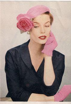 The Vintage Hat Shop: Lilly Dache' hat, April 1954
