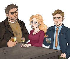 Robin, Cormoran... and Matthew. Matthew looks like a girl. Makes sense.