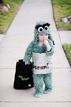 Chase's DIY Oscar the Grouch Halloween Costume