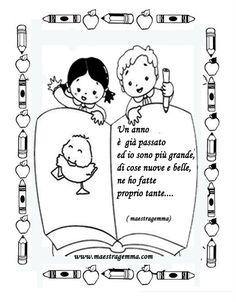 www.maestragemma.com cornicette_copertine_raccogliere_lavori.htm Canti, Preschool Classroom, My Job, My Drawings, Coloring Books, Back To School, Crafts For Kids, Clip Art, Education