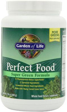 Amazon.com: Garden of Life Perfect Food Super Green Formula, 600- Grams (60-Servings): Health & Personal Care