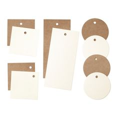 GIVANDE Gift tags, set of 10, white, natural