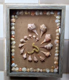 Sanibel shell collage shadowbox made by Jane Kintzi