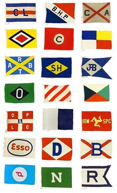 maritime flags - pair with books about boats!