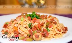 Spaghete cu ansoa si ardei on http://www.gatesteusor.ro