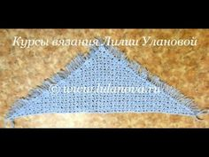 Шаль крючком - 2 часть -  Knitting shawl crochet
