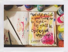 art journal #color #pattern #quote