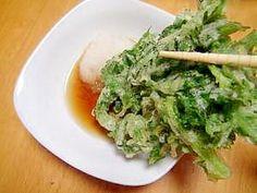 """Deep Fried garland chrysanthemum"" - japanese recipe/べちゃべちゃにならない!春菊の天ぷら"