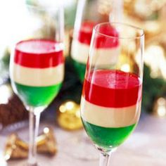 Christmas Dessert for kids - use small plastic party cups and substitute cool whip for middle section.
