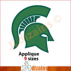 Michigan State Spartans Machine embroidery design - INSTANT DOWNLOAD - 9 sizes by JLdizains on Etsy https://www.etsy.com/listing/258099109/michigan-state-spartans-machine