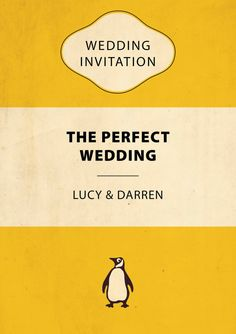 Penguin Book Wedding Invite. Unique Wedding by VerbatimART on Etsy