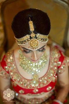 Mathapatti - Gold Jhoomer Matha Patti with Pearl Drops | WedMeGood #wedmegood #mathapatti #jhoomer