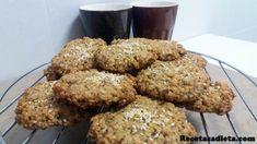 galletas de avena, naranja y semillas1 Sin Gluten, Sweet Recipes, Muffins, Cookies, Breakfast, Healthy, Desserts, Food, Babyshower