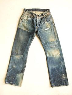 Patched denim  #jeans #rugged #menswear #fashion #pant