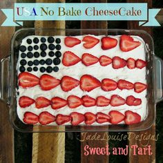 Best Ever US Cheesecake No Bake Recipe perfect for any patriotic party, memorial day or 4th of july party. Or just the best dessert for a BBQ.