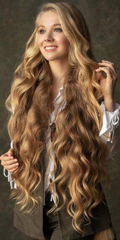 Nackte super lange Haare Mädchen pics