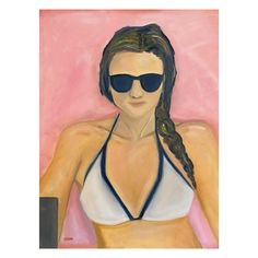 Oil on canvas, made in May 2020   #art #artwork #oilpainting #selfy #selfypainting #pinktowel #summerpainting #portrait #autoportrait #pinkart #villaserbellonitowel #interior #blacksunglasses #artforhome #duringlockdown #paitningathome #wheninitaly Pink Towels, Summer Painting, Pink Art, Black Sunglasses, Home Art, Oil On Canvas, Diana, Disney Characters, Fictional Characters