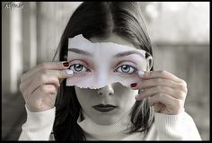Surreal eye art. Artist unknown. Re-pinned by author, Dew Pellucid (http://thesoundandtheechoes.com).