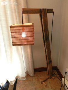 31 of the Most Stunning Lamps Made From Reclaimed Pallets Pallet Lamps, Pallet Lights