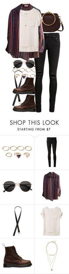 """Untitled #11167"" by nikka-phillips ❤ liked on Polyvore featuring Forever 21, rag & bone/JEAN, H&M, Equipment, rag & bone and Dr. Martens"