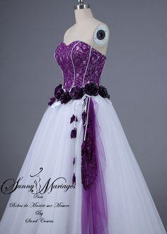 d8f6e36cb05 Robe de mariée noire et blanche pas cher et en ligne