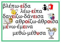 Letter Activities, Educational Activities, Teaching Kids, Kids Learning, Grammar Posters, Learn Greek, Greek Language, Language Lessons, English Words