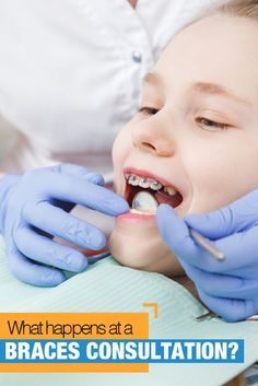 Many questions surround your braces consultation with a new orthodontist. Read about What to Expect at a Braces Consultation For Your Kids Kids Braces, Clear Aligners, Dentistry, Your Child, Shit Happens, This Or That Questions, Learning, Carrera, Children