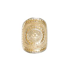 Anna Beck: Rings: Beaded Saddle Ring - Gold