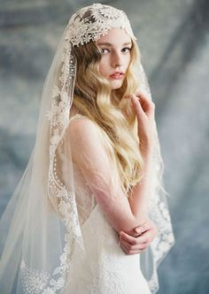 Bohemian veil by Claire Pettibone
