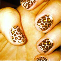 cheetah nails. purrrr