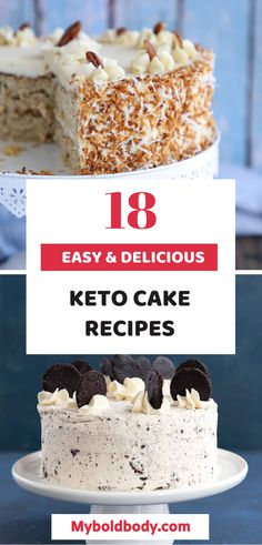 When it comes to losing weight on keto, cakes are definitely not off the list. These 18 keto cakes are taste super delicious and will keep you in ketosis. Keto Friendly Desserts, Keto Desserts, Diet Cheesecake Recipe, Baked Orange Chicken, Orange And Almond Cake, Keto Chocolate Mug Cake, Delicious Desserts, Dessert Recipes, Pumpkin Coffee Cakes