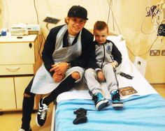 Niall at a children's hospital in Dublin recently!