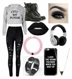 Cute Emo Outfits, Bad Girl Outfits, Really Cute Outfits, Scene Outfits, Teenage Girl Outfits, Punk Outfits, Girls Fashion Clothes, Gothic Outfits, Teen Fashion Outfits
