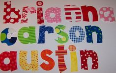Iron On Fabric Name Alphabet Letters Applique