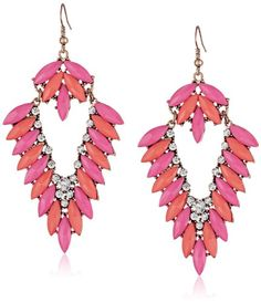 Gold Tone, Pink and Peach Stones V Shape Earrings Amazon Curated Collection http://www.amazon.com/dp/B00IVOMFGE/ref=cm_sw_r_pi_dp_OYhStb06WM6RHTN4