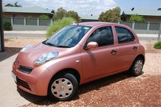 My PINK Nissan Micra....cutest car ever!