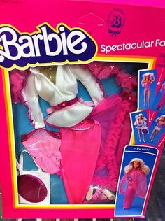 Vintage Barbie Doll Clothing Spectacular Fashions In the Pink #7219 1983 NIB