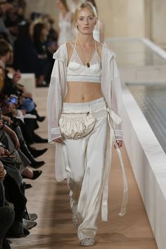 Balenciaga, Look #7. High fashion fanny pack. :)