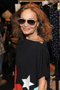 DVF: Her clothes, of course, are the epitome of chic. And she's pretty fabulous herself, don't you agree?