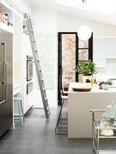 Ladder in Kitchen. want