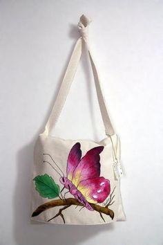bolsos de tela pintados a mano - Buscar con Google