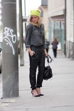 Leather sweatpants | Auroran henkarit