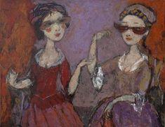 MASQUERADE, oil on canvas, 70x90cm,2010, Svetlana Kurmaz.  © Svetlana Kurmaz Masquerade, Oil On Canvas, Artist, Russian Art, Paintings, Paint, Painted Canvas, Painting Art, Masquerades