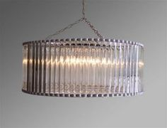 crystal drum chandeliers - Google Search