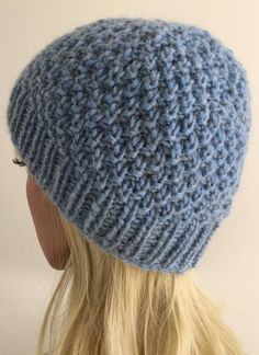 Glacier Beanie 4 sizes Knitting pattern by The Lonely Sea - Heather C Loom Knit Hat, Crochet Beanie Pattern, Knit Beanie, Knitted Hats, Knit Crochet, Crochet Hats, Loom Hats, Slouch Hats, Crochet Granny