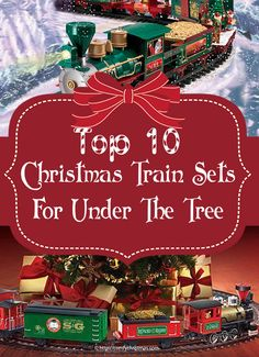 Top 10 Best #ChristmasTrainSets For Under The Tree and onе of thе mоѕt popular #tоуѕ аnd #ChristmasDесоrаtіоnѕ during thе holiday ѕеаѕоn. http://comfychristmas.com/top-10-best-christmas-train-sets-for-under-the-tree/