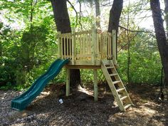 If you're looking for something small, we can deliever on that as well.  This tree platform is basically a glorified zipline launch zone with a slide.  It may be small, but it's priced to sell!