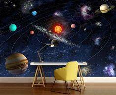 solar system wallpaper solar system wall mural galaxy